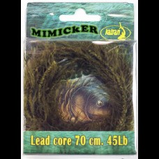 3 x ready made Mimicker lead core leaders. 70cm. 45lb BS